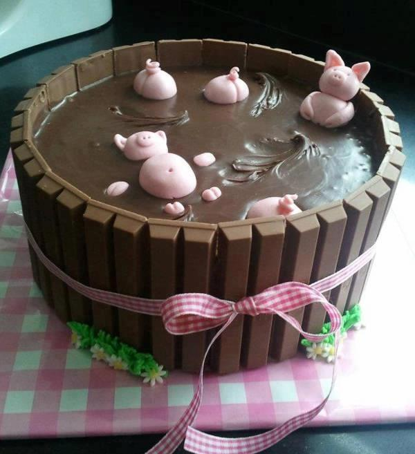 Schweinchen Im Schlammbad Torte Die Achse Des Sussen