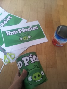 Angry Birds Dosenwerfen